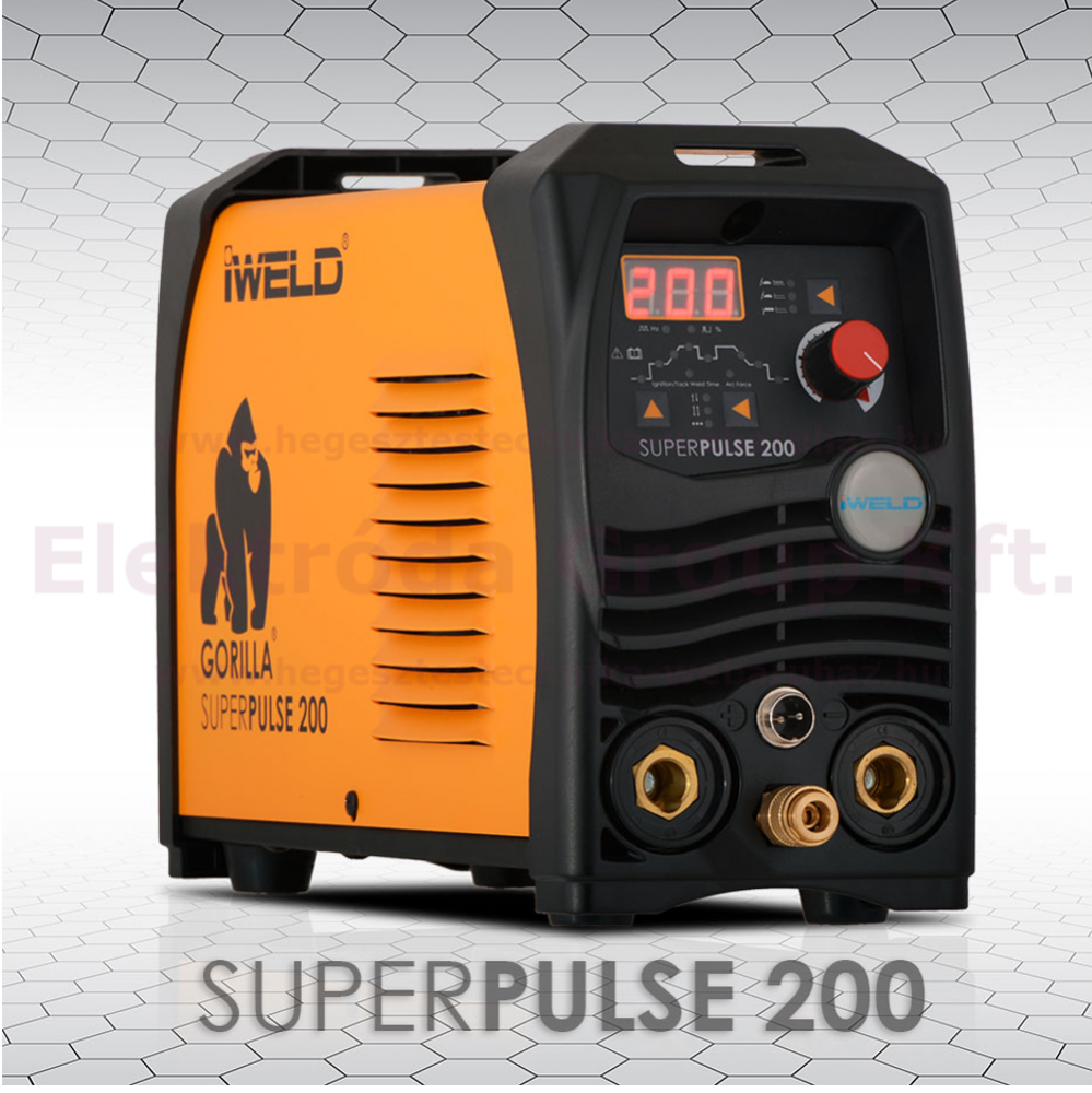 IWELD GORILLA SUPERPULSE 200 DC hegesztő inverter